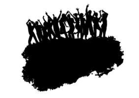 Grunge party publik bakgrund