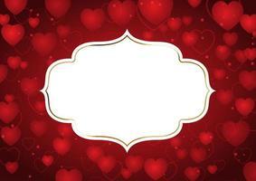 Valentindagbakgrund med dekorativ ram