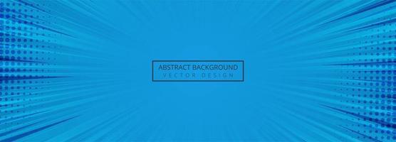 Abstrakter blauer komischer Fahnenhintergrund vektor