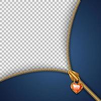 Vorlage mit Reißverschlussverschluss am Herzen