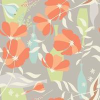 Nahtloses Muster mit floralen Elementen
