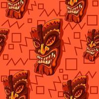 Tiki Holzmaske Hintergrund vektor