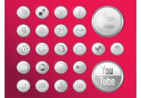 Glänzende Social Media Icons vektor