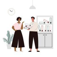 Gespräch von zwei Büroangestellten vektor