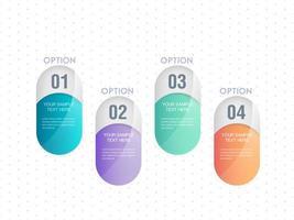 Infographik Pastell Nummer Template-Design