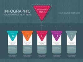Infographik fünf Schritt Template-Design