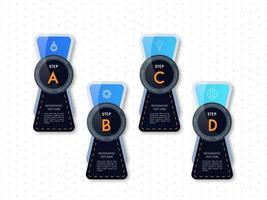 Infographik blau und schwarz Template-Design