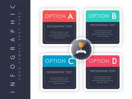 Infografik Option Template-Design