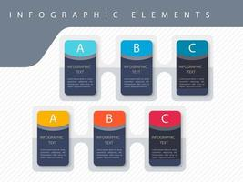 Infographik bunte Vorlage Design