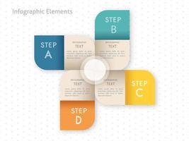 Infographik Schritte Template-Design