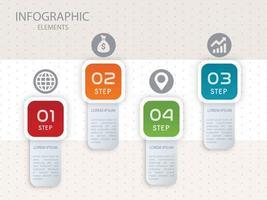 Infographik vier Farbvorlagendesign