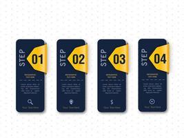 Infographik schwarz und gelb Template-Design