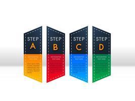 Infographik vier Schritt Template-Design