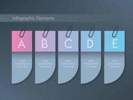 Infographik Farbverlauf Template-Design