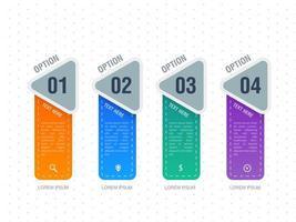 Infographik vier Option Template-Design