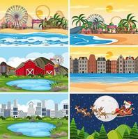Eine Reihe von Outdoor-Szene einschließlich Strand vektor