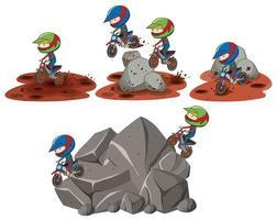 Reihe von Motocross-Szenen vektor