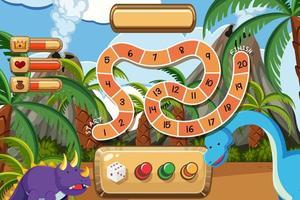 Spiel mit zwei Dinosauriern vektor