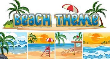 Set Strandhintergrund