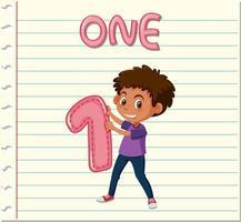 pojke innehar nummer ett