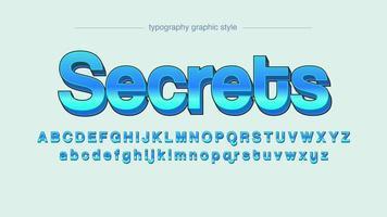 Blaue serifenlose Typografie 3D vektor