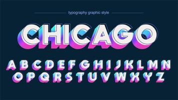 Neon bunte mutige 3D Großbuchstaben vektor