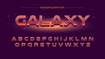 futuristisk röd typografi