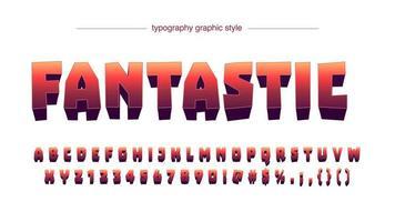 Rote Steigungs-Karikatur-Typografie