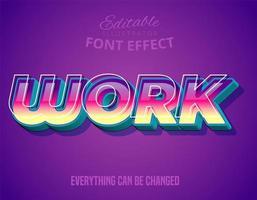 Moderner und futuristischer Font mit coolem Effekt