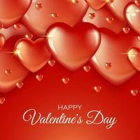 Röd hjärtavalentinbakgrund vektor