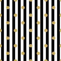 sömlös guldprick glitter mönster med rand bakgrund vektor