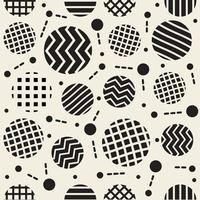nahtlose Kreisform Muster Hintergrund vektor