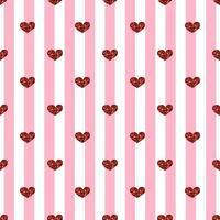 Nahtloser Herz-Muster-Hintergrund