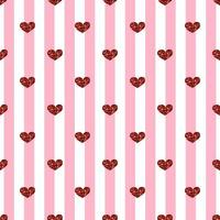 Sömlös hjärtmönsterbakgrund