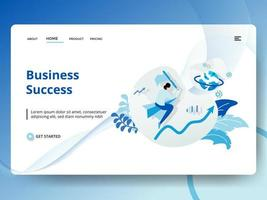 Landing Page Geschäftserfolg