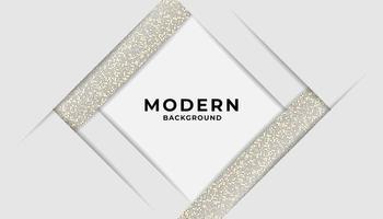 Moderner abstrakter Schicht-weißer Hintergrund mit goldenem Funkeln vektor