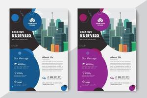 Företags affärsmall vektor