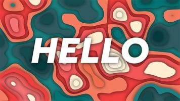 Hallo geometrischer Hintergrund mit Papierschnittformen vektor