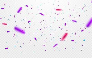 Närbild av konfetti upp