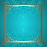 Mandala bakgrund med dekorativ guldgräns