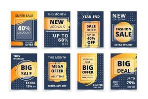 Grunge Art und Frame Sales Promo Banner Set vektor