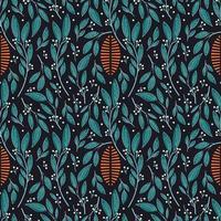 Sömlös mönsterdesign med handritade blad