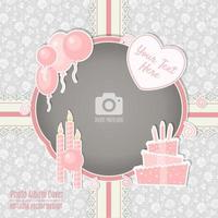 Geburtstagsfeier-Foto-Rahmen-Einklebebuch-Album-Abdeckung