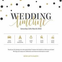 Bröllop tidslinjen mall vektor