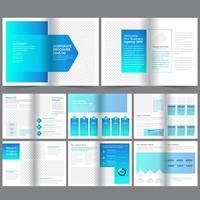 Corporate hellblauen Farbverlauf Broschüre Vorlage