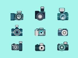 Kamera-Icon-Set vektor