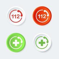 122 och AID-knappuppsättning.