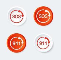 911 och SOS knappuppsättning