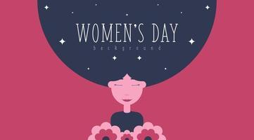 8. März Frauentag Hintergrund Illustration