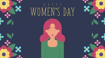Floral 8. März Frauentag Hintergrund